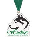 Birchwood Custom School Award Medal w/ Grosgrain Neck Ribbon