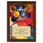 Art Award Plaque - Cherry Finish
