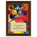 Art Award Plaque - Cherry Finish