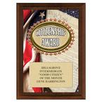 Citizenship Award Plaque - Cherry Finish
