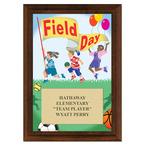 Field Day Award Plaque - Cherry Finish
