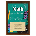 Math Award Plaque - Cherry Finish