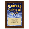 Outstanding Achievement Award Plaque - Cherry Finish