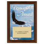 Principal's Award Plaque - Cherry Finish