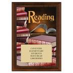 Reading Award Plaque - Cherry Finish