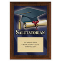 Salutatorian Award Plaque - Cherry Finish