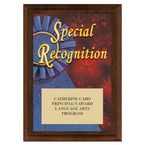 Special Recognition Award Plaque - Cherry Finish