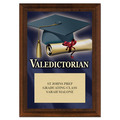 Valedictorian Award Plaque - Cherry Finish