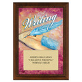Writing Award Plaque - Cherry Finished