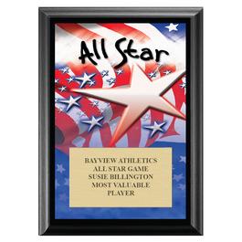 All Star Award Plaque - Black