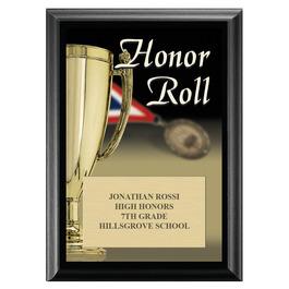 Honor Roll Award Plaque - Black