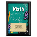 Math Award Plaque - Black
