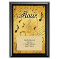 Music Award Plaque - Black