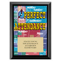 Perfect Attendance Award Plaque - Black