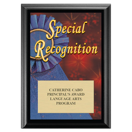 Special Recognition Award Plaque - Black