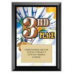 Third Place Award Plaque - Black