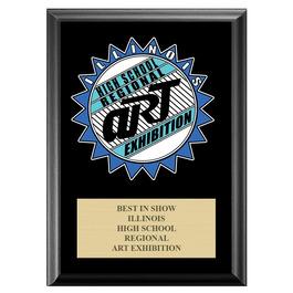 Full Color Custom School Award Plaque - Black