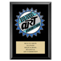 Full Color Custom School Award Plaque - Black