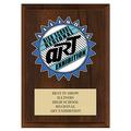 Custom  Full Color School Award Plaque - Cherry Finish