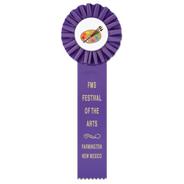 Ideal 1 School Rosette Award Ribbon