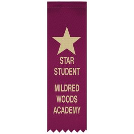 Hemmed Top Award Ribbon