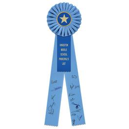 Signature School Rosette Award Ribbon