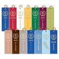 Stock Victory Torch Square Top School Award Ribbon