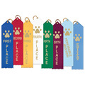 Stock Paw Print School Point Top Award Ribbons
