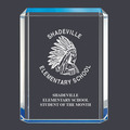 Blue Shimmer Acrylic School Award Trophy