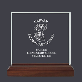 Square Acrylic School Award Trophy