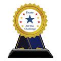 Birchwood Rosette School Award Trophy w/ Black Base