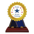 Birchwood Rosette School Award Trophy w/ Rosewood Base