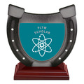 Birchwood Horseshoe School Award Trophy w/ Rosewood Base