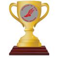 Birchwood Loving Cup School Award Trophy w/ Rosewood Base