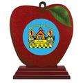 Birchwood Apple School Award Trophy w/ Rosewood Base