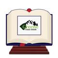 Birchwood Open Book School Award Trophy w/ Rosewood Base