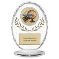"""6-3/8"""" Free Standing Oval School Award Trophy"""