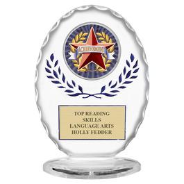 Free Standing Oval School Trophy