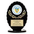 Black Free Standing Oval School Award Trophy