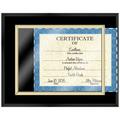 Certificate Plaque - Black Finish