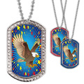 Full Color GEM Eagle Dog Tag