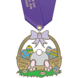 HH Seasonal and Awareness Award Medal w/ Satin Neck Ribbon