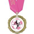 XBX Soccer Medal w/ Satin Neck Ribbon