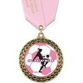 GFL Soccer Award Medal w/ Satin Neck Ribbon