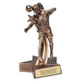 Female Soccer Superstar Resin Award Trophy