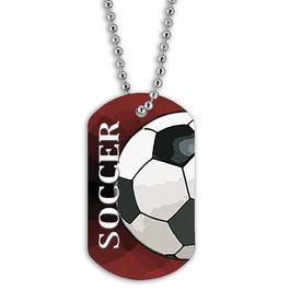 Full Color Soccer Ball Dog Tags