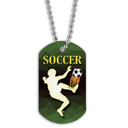 Full Color Soccer Player Dog Tags