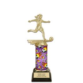 """10"""" Black HS Base Soccer Award Trophy"""