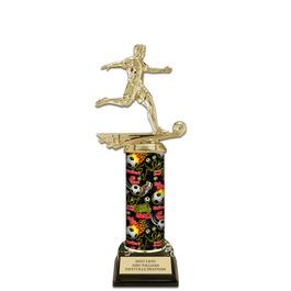 """11"""" Black HS Base Soccer Award Trophy"""