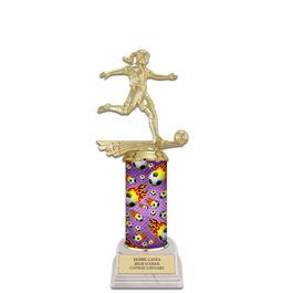 "10"" White HS Base Soccer Award Trophy"